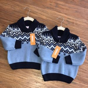 Twin boys Fair Isle Gymboree sweaters new w tags!